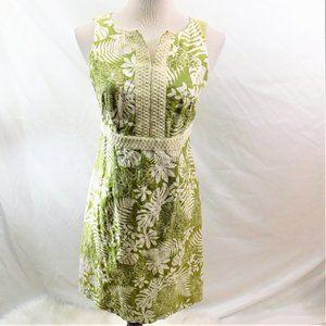 Petite Sophisticate Tropical Floral Lined Dress 6P